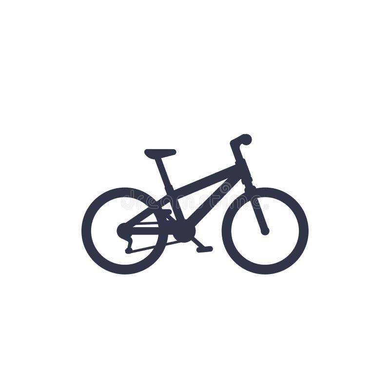 Bicicletta, icona del mountain bike royalty illustrazione gratis