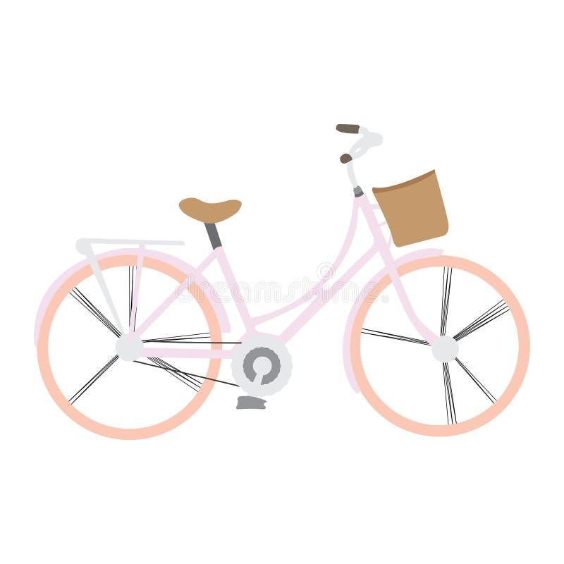 Bicicletta isolata dell'annata illustrazione vettoriale