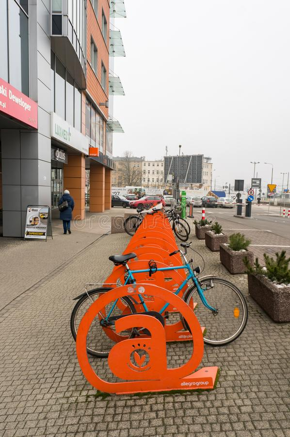 Bicicletta Locked immagini stock libere da diritti