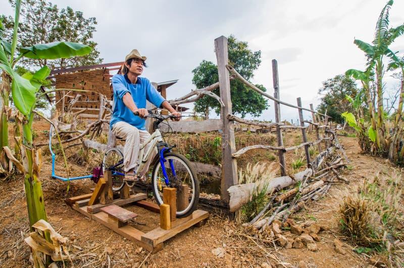 Bicicletta per la pompa idraulica immagini stock libere da diritti
