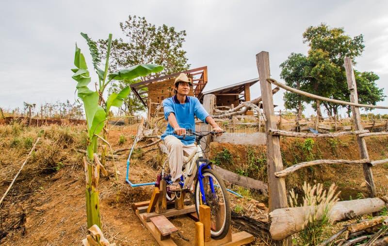 Bicicletta per la pompa idraulica fotografia stock