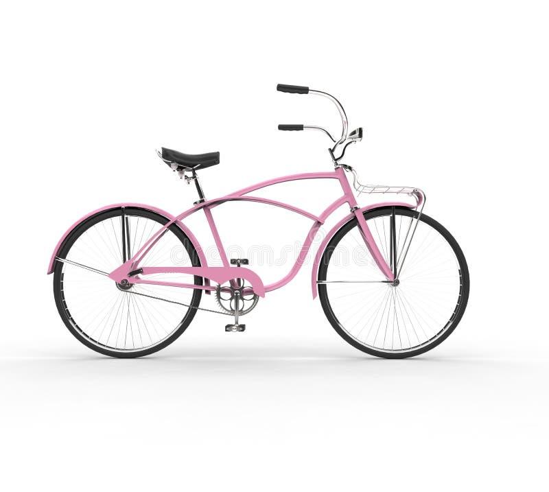 Bicicletta rosa d'annata fotografia stock libera da diritti