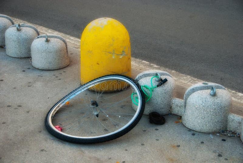 Bicicletta rubata immagine stock