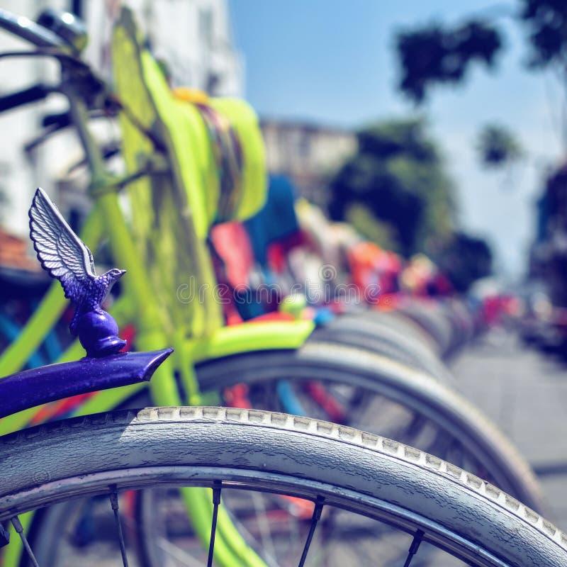 Bicicletta variopinta fotografia stock libera da diritti