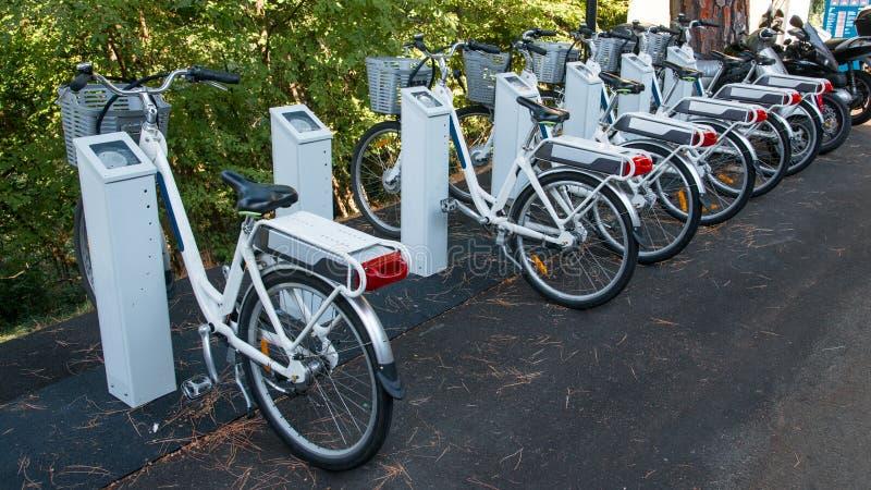 Biciclette elettriche fotografie stock