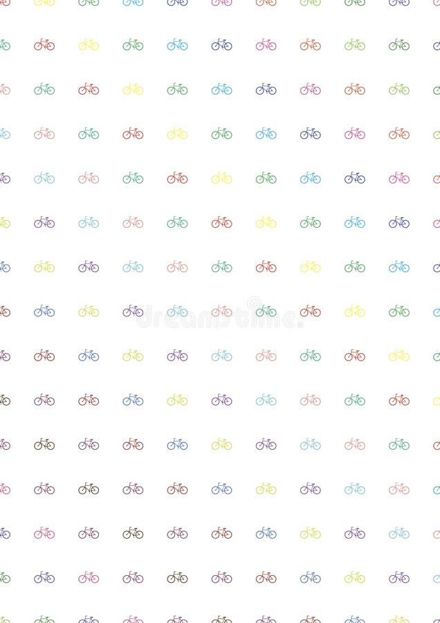 Biciclette multicolori Reticolo fotografia stock
