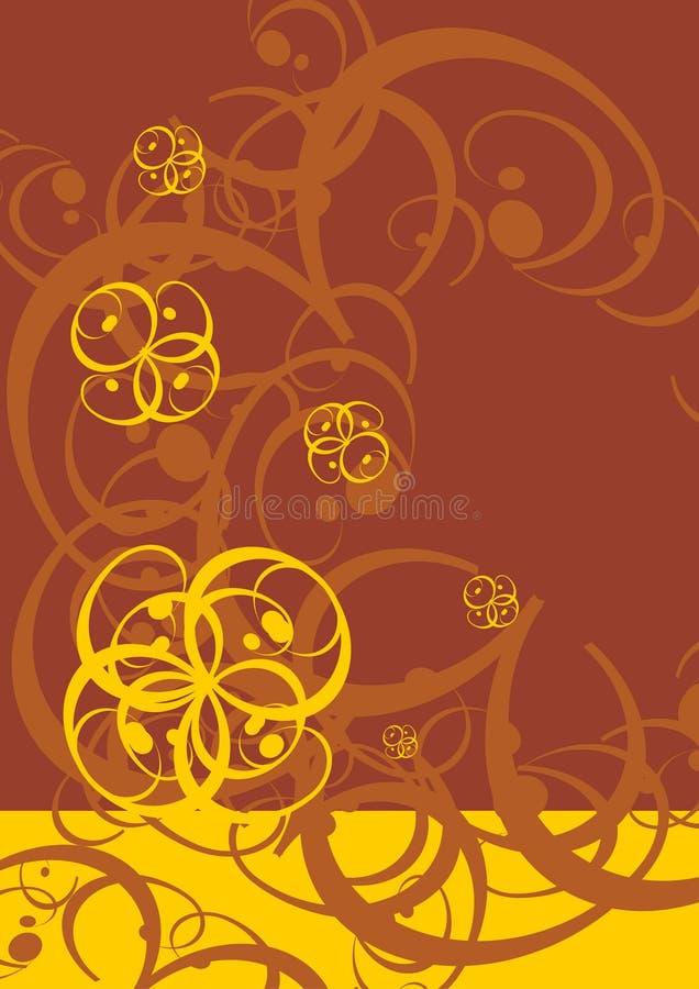 bicolor natur royaltyfri illustrationer