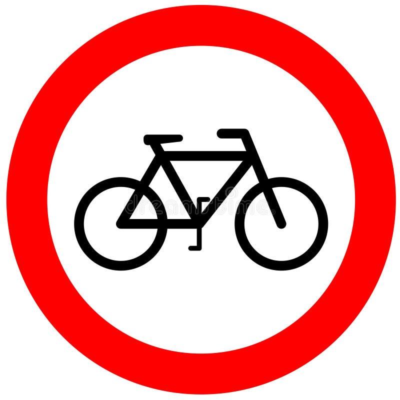 bicycle żadnego znaka ilustracja wektor