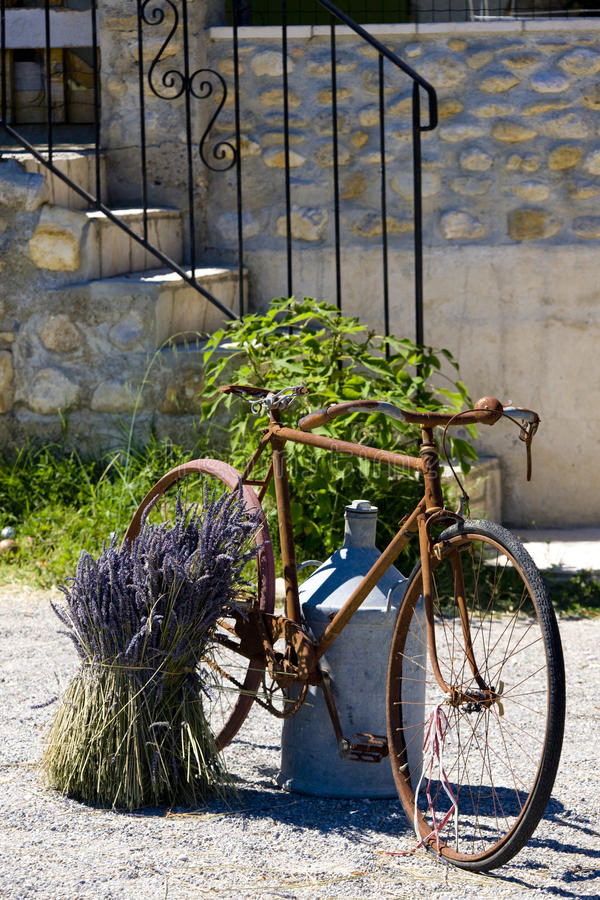 Download Bicycle stock photo. Image of village, flower, life, departement - 10228184