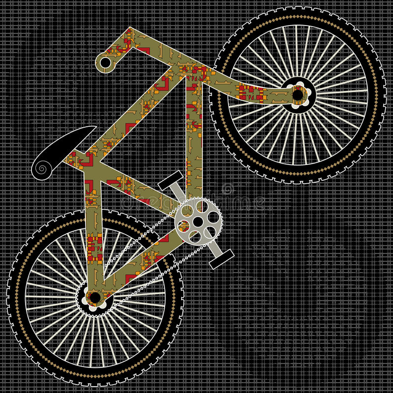 Download Bicycle stock vector. Illustration of sign, decorative - 23650385