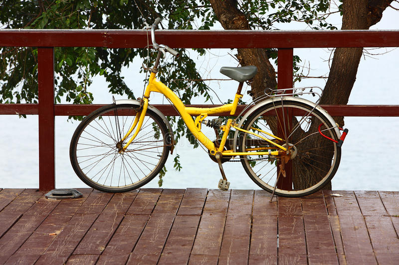 Download Bicycle stock photo. Image of wooden, lock, sports, roadside - 23787484