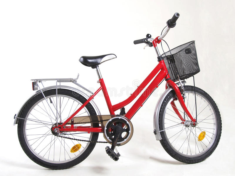 Bicycle. Red bicycle on white background