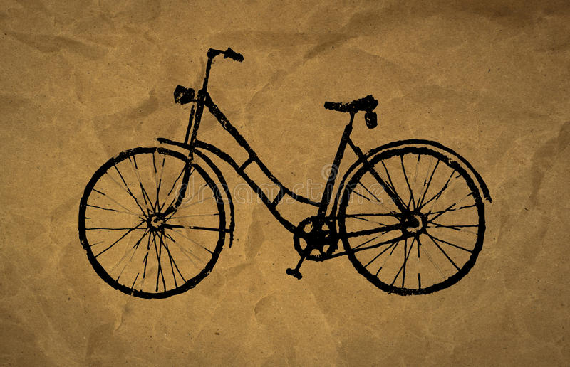 Bicycle royalty free illustration