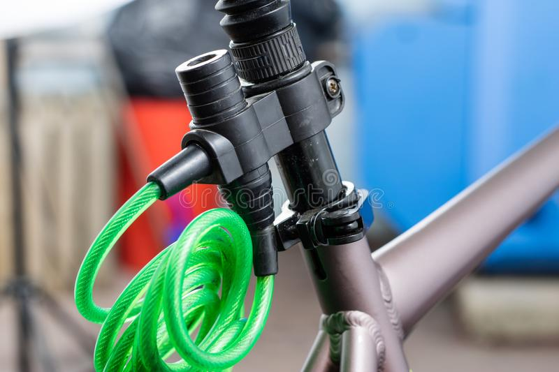 Bicycle accessories in a larger size. Bicycle for tourist and tr royalty free stock image