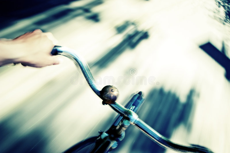 Bicycle Action royalty free stock photography