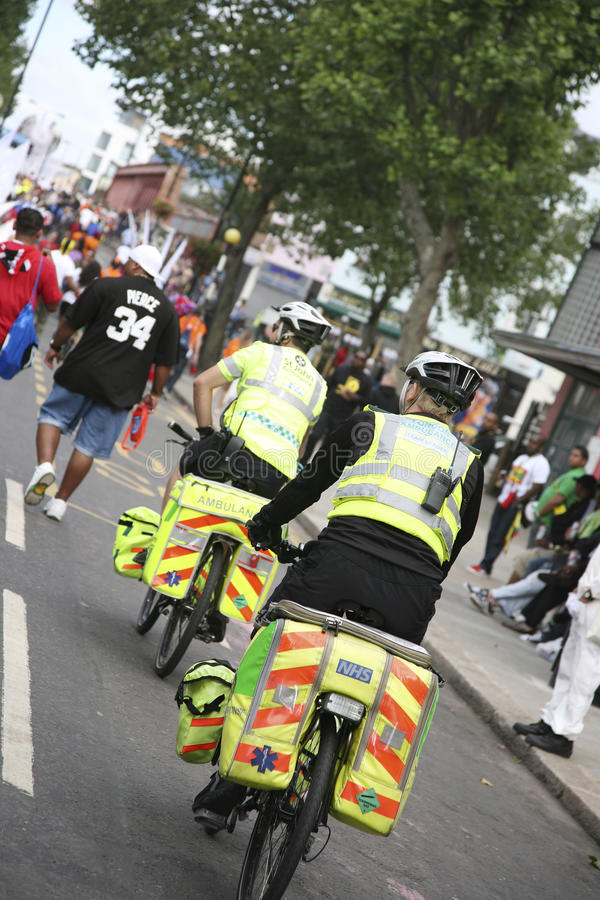 Download Bicycle Ambulance Aiders At Notthing Hill Carnival Editorial Photography - Image: 22798577