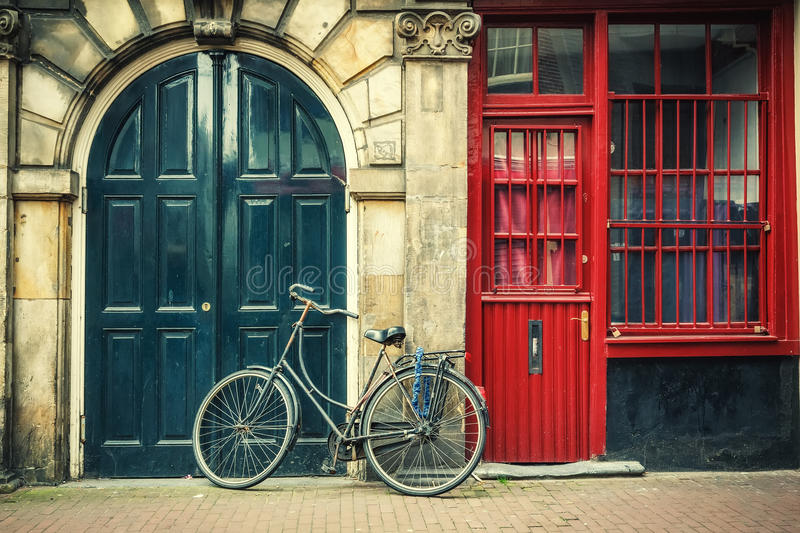 Bicycle in Amsterdam stock photos