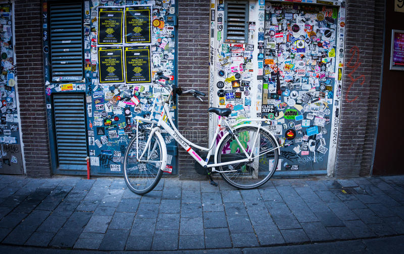 Bicycle in Amsterdam royalty free stock images