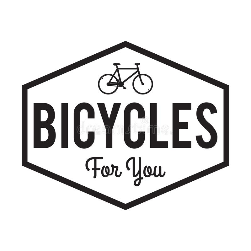 Bicycle Badge/Label. Bicycles for you. For Bike shop signage stock illustration