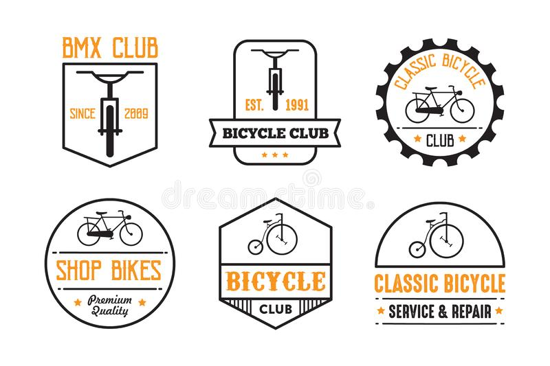 Bicycle Badge and Logo, good for print royalty free illustration