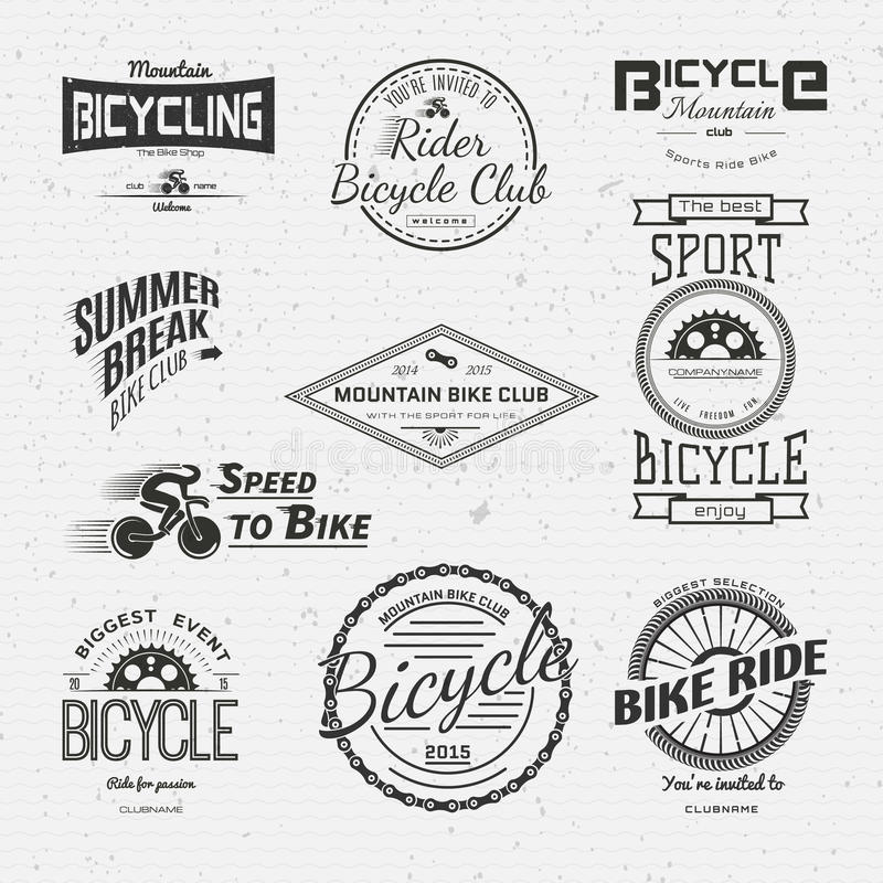 Bicycle badges logos and labels for any use royalty free illustration