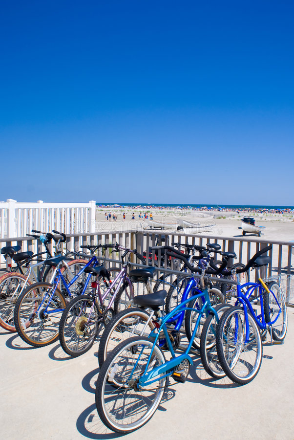 Bicycle At The Beach Royalty Free Stock Images