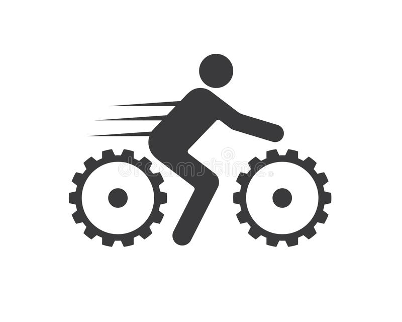 Bicycle and Bike icon vector illustration. Design royalty free illustration