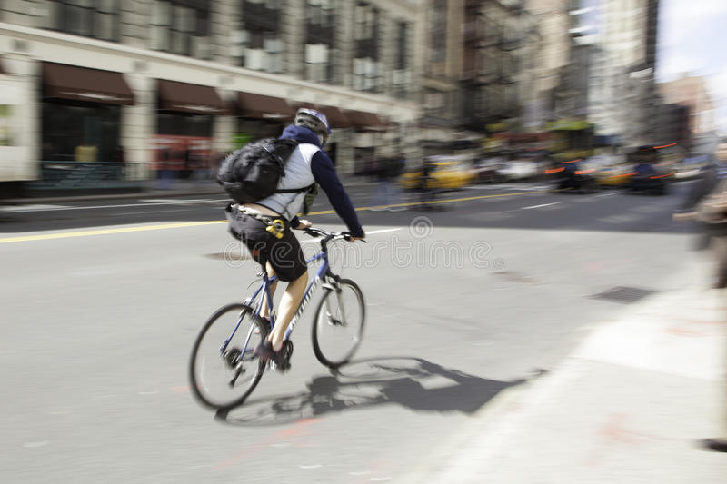 Bicycle Blur New York City 2 royalty free stock photography