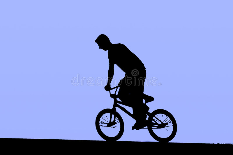 Bicycle on BMX bike royalty free stock images