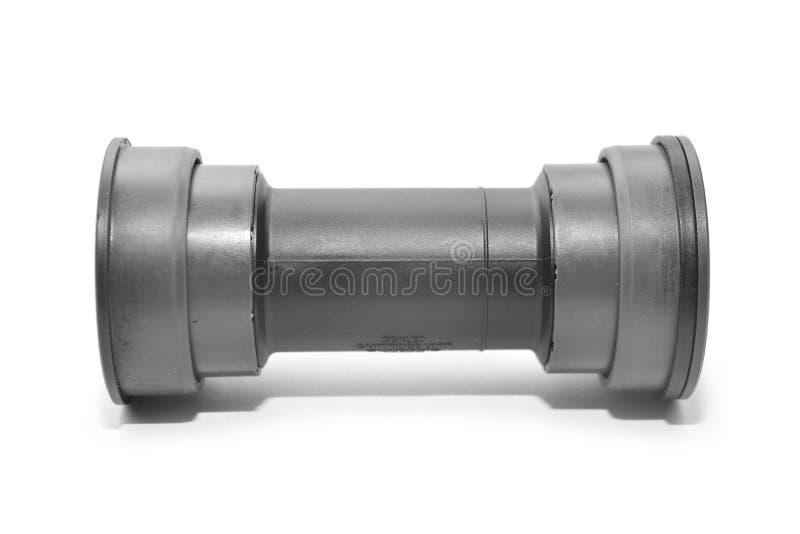 Bicycle botom bracket. A bicycle bottom bracket cartridge isolated on white background stock photos