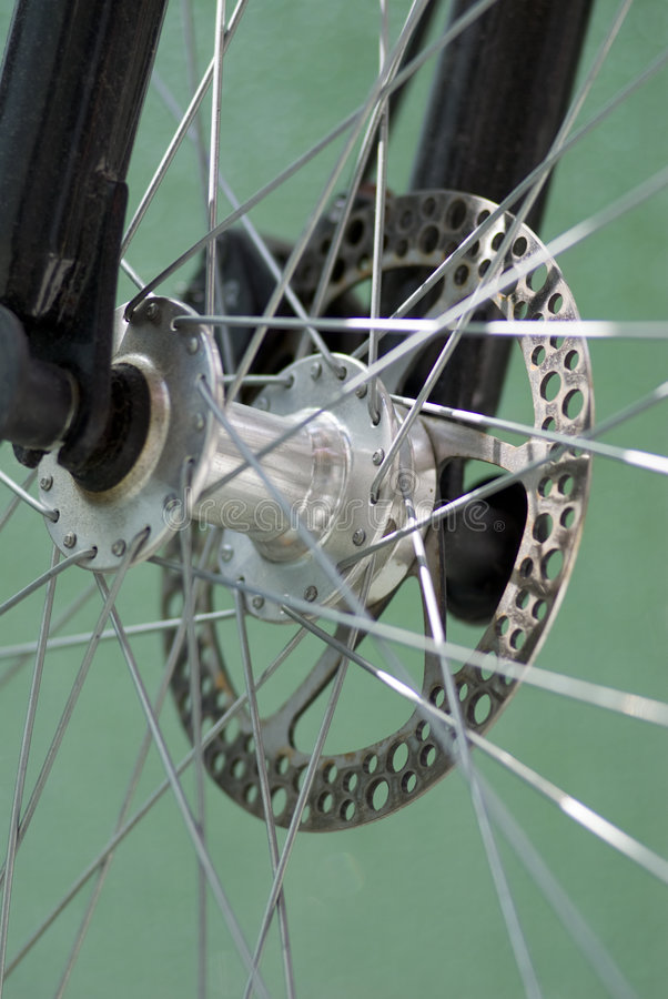 Bicycle brakes. Close-up of bicycle brakes royalty free stock photo