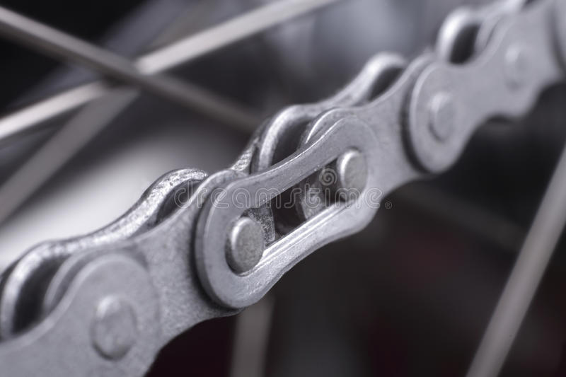 Bicycle chain stock image
