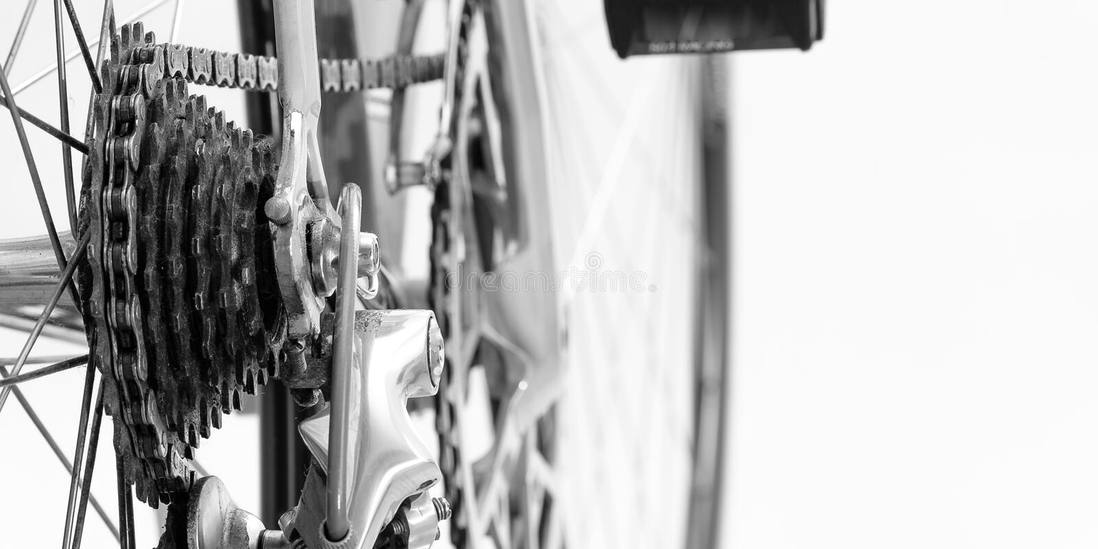 Bicycle chain and sprocket vintage royalty free stock image