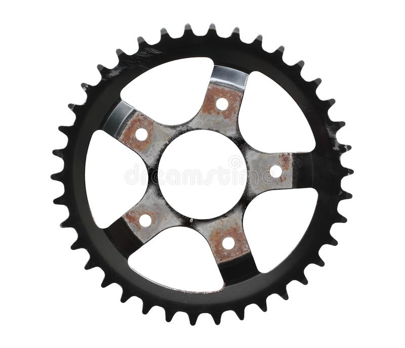 Bicycle chainring royalty free stock photos