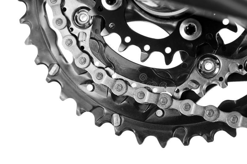 Bicycle Chainset stock photos