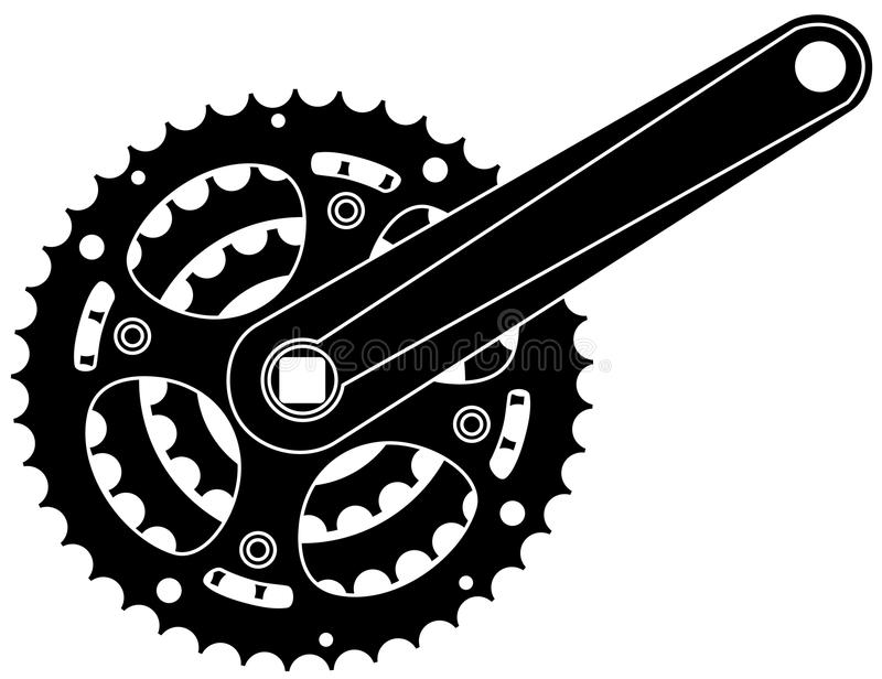 bicycle cogwheel sprocket stock illustration
