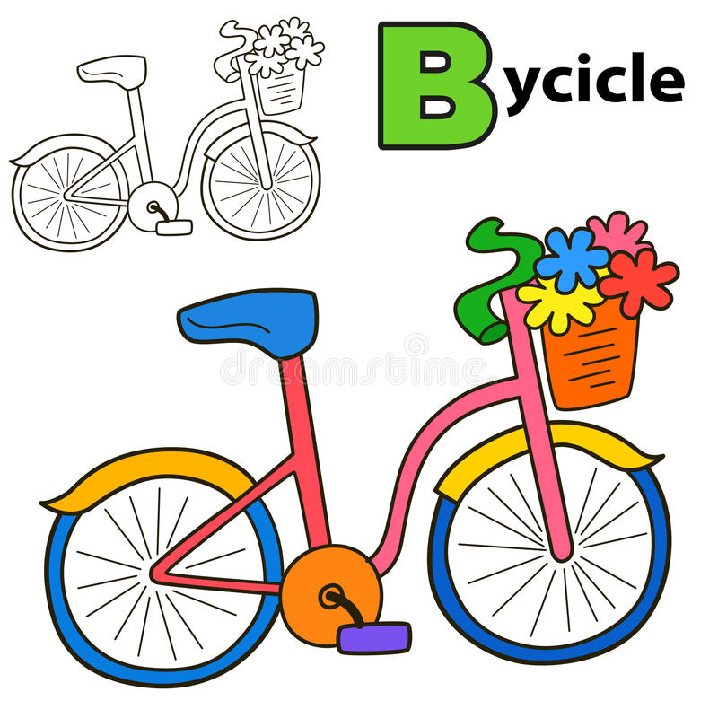 download bicycle coloring book page stock vector image 79688426 - Bicycle Coloring Book