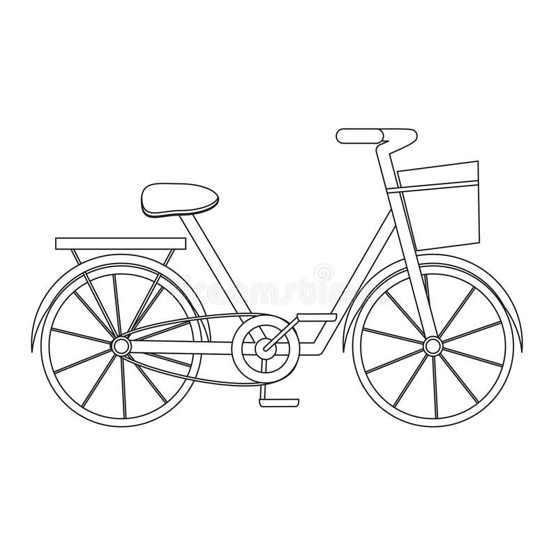 Bicycle continuous line vector illustration vector illustration