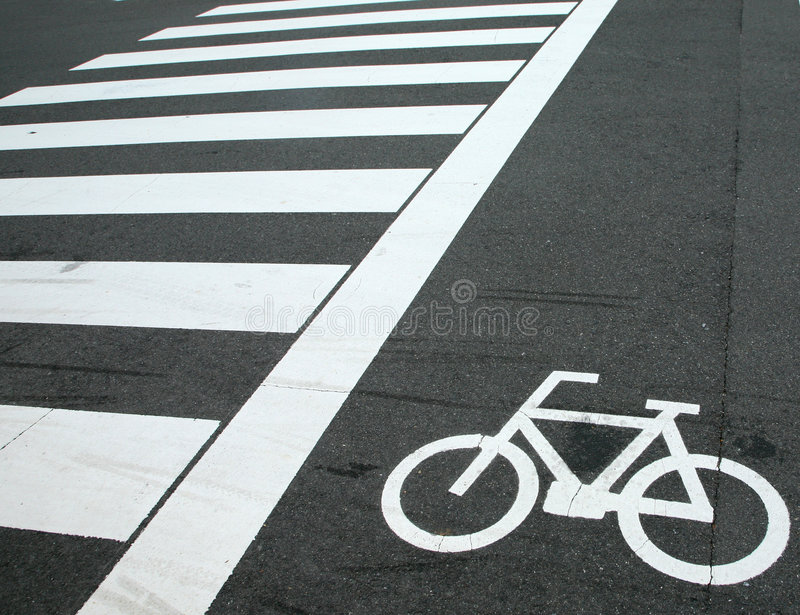 Download Bicycle Crossing Sign Stock Image - Image: 5057371