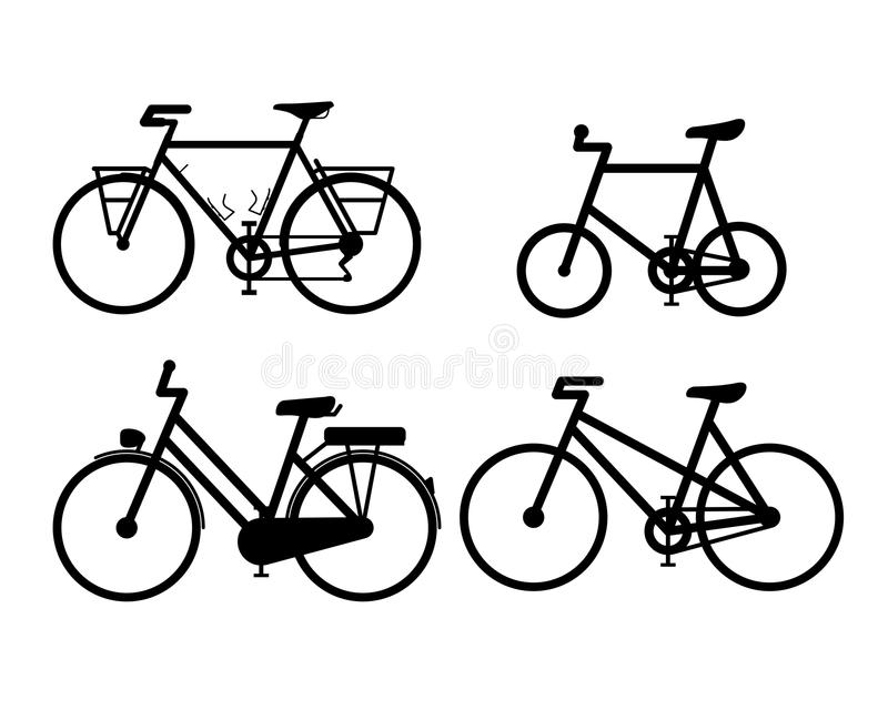 Bicycle cycling vector icon illustration sign symbols Set A stock illustration