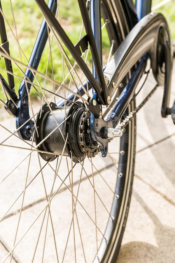 Bicycle - detail of gear and chain royalty free stock image