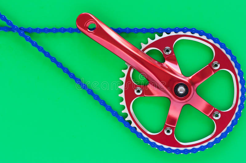 Bicycle fixie crank stock images