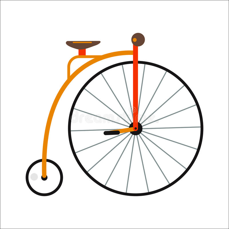 Bicycle flat style isolated on white background vector illustration. Ecology friendly bike summer outdoor adventure. Street cycle fast road transport. Sport royalty free illustration