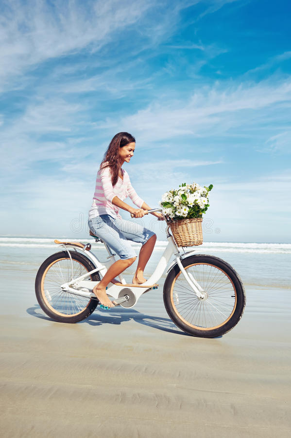 Download Bicycle Flower Woman Stock Photography - Image: 31057382