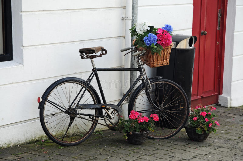 Download Bicycle with flowers stock image. Image of romantic, object - 26609663