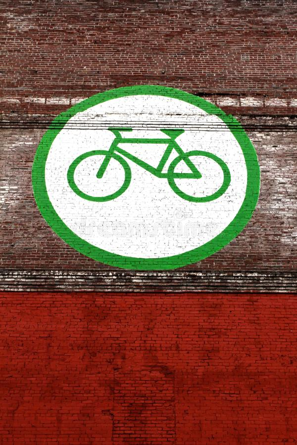 Bicycle Friendly City Mural USA stock image