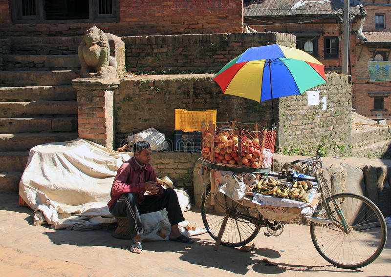 Bicycle of fruit royalty free stock photo