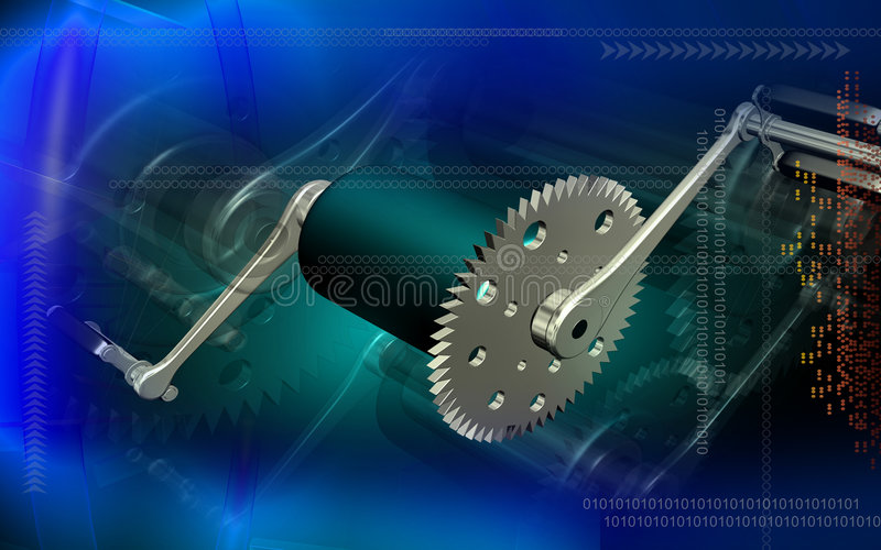 Download Bicycle gear and pedal stock illustration. Illustration of abstract - 6223718