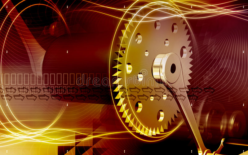 Download Bicycle gear and pedal stock illustration. Image of abstract - 8040536