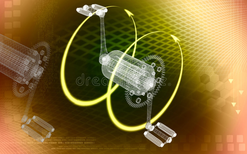 Bicycle Gear And Pedal In Circle Stock Photos